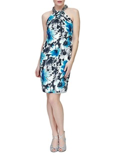 CARMEN MARC VALVO Silk Sheath Dress