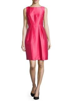 Carmen Marc Valvo Sleeveless Cutaway Cocktail Dress