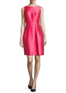 Carmen Marc Valvo Sleeveless Cutaway Cocktail Dress, Sorbet