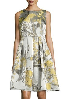 Carmen Marc Valvo Sleeveless Fit-&-Flare Dress