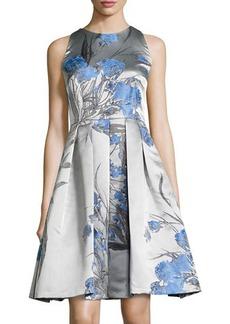 Carmen Marc Valvo Sleeveless Fit-&-Flare Dress