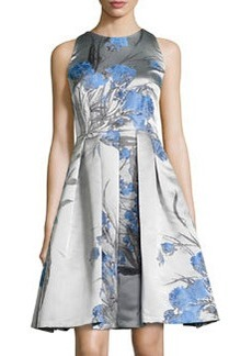 Carmen Marc Valvo Sleeveless Fit-&-Flare Dress, Periwinkle