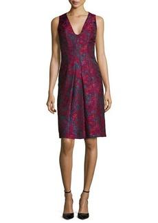 Carmen Marc Valvo Sleeveless Floral-Print Cocktail Dress  Sleeveless Floral-Print Cocktail Dress