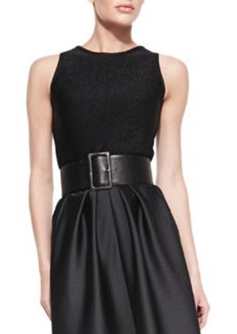 Carmen Marc Valvo Sleeveless Jersey Top