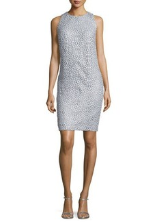 Carmen Marc Valvo Sleeveless Lace Sheath Dress