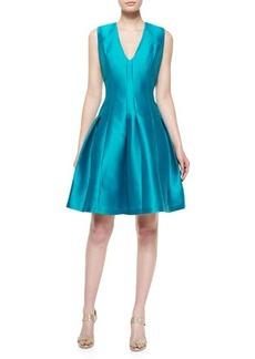 Carmen Marc Valvo Sleeveless Pleated Party Dress  Sleeveless Pleated Party Dress