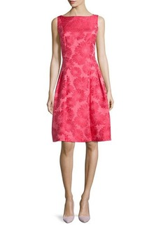 Carmen Marc Valvo Sleeveless Poppy Brocade Party Dress  Sleeveless Poppy Brocade Party Dress