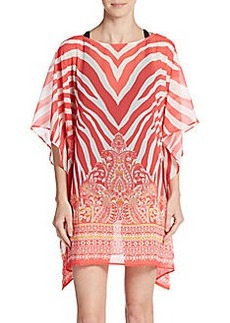 Carmen Marc Valvo Swimwear Mixed Print Cover Up Tunic