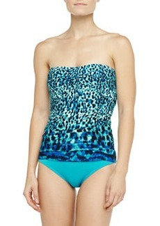 Carmen Marc Valvo Tribal Muse Cutout-Back Swim Bottom, Ultramarine