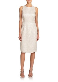 Carmen Marc Valvo Tweed Cocktail Sheath