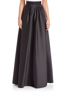 Carmen Marc Valvo Twill Ball Skirt