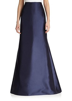 Carmen Marc Valvo Twill Mermaid Skirt