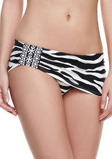 Carmen Marc Valvo Wild Stripe Skirted Bikini Bottom