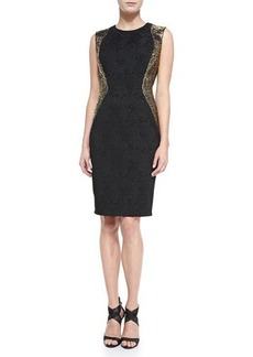 Carmen Marc Valvo Women's Studded Side Cocktail Dress, Women's