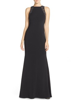 Carmen Marc ValvoInfusionEmbellished Crepe Gown