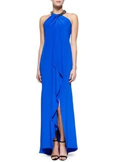 Halter Beaded-Neck Gown   Halter Beaded-Neck Gown