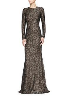 Long-Sleeve Lace Gown   Long-Sleeve Lace Gown