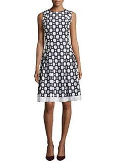 Polka Dot Fit & Flare Dress   Polka Dot Fit & Flare Dress