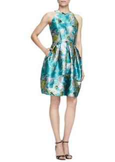 Sleeveless Floral Cocktail Dress   Sleeveless Floral Cocktail Dress