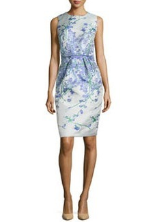 Sleeveless Floral-Print Sheath Dress   Sleeveless Floral-Print Sheath Dress