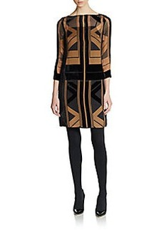 Catherine Malandrino Art Deco-Inspired Print Dress