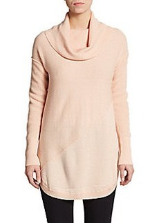 Catherine Malandrino Asymmeterical Seamed Cowlneck Sweater