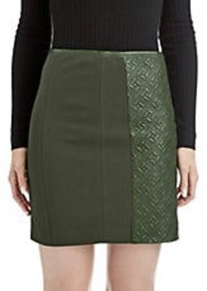 CATHERINE MALANDRINO Avela Quilted Leather Skirt
