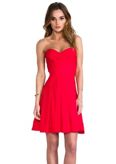 Catherine Malandrino Benita Bustier Dress in Red