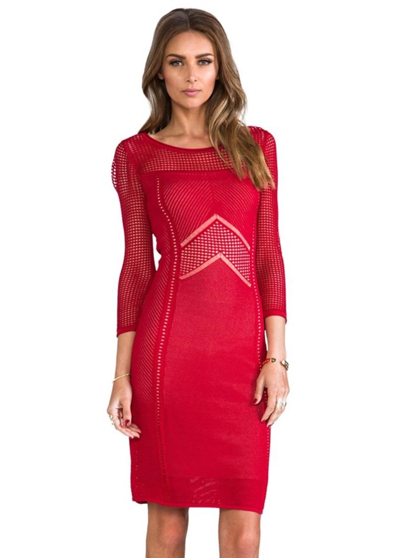 Catherine Malandrino Brooke Pointelle Dress in Red