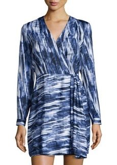 Catherine Malandrino Brushstroke-Print Jersey Dress
