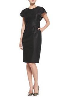 Catherine Malandrino Cape-Sleeve Sheath Dress with Pockets