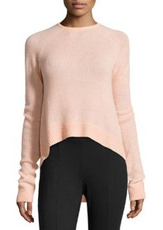 Catherine Malandrino Cashmere Long-Sleeve Raglan Sweater, Blush