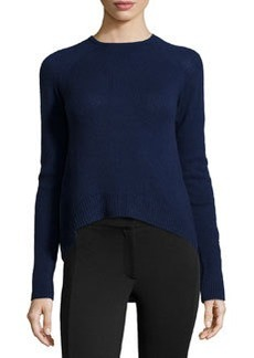 Catherine Malandrino Cashmere Long-Sleeve Raglan Sweater, Navy