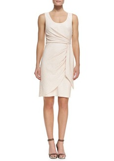 Catherine Malandrino Crocodile Jacquard Wrap Dress