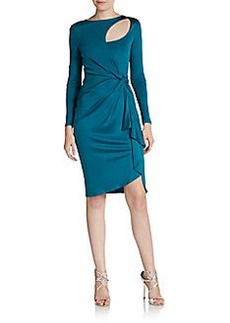 Catherine Malandrino Cutout Silk Draped Dress