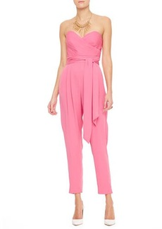 Catherine Malandrino Favorites Strapless Silk Jumpsuit