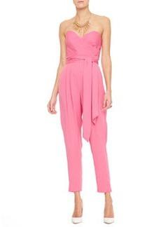 Catherine Malandrino Favorites Strapless Silk Jumpsuit