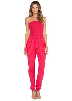Catherine Malandrino Finesse Strapless Jumpsuit in Red