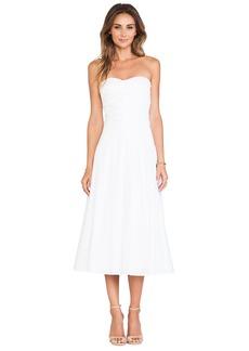 Catherine Malandrino Gia Strapless Tea Length Bustier Dress