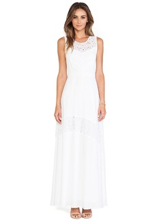 Catherine Malandrino Gianna Lace Detail Maxi Dress in White