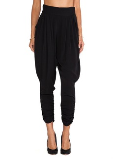 Catherine Malandrino Gisella Draw String Harem Pants in Black