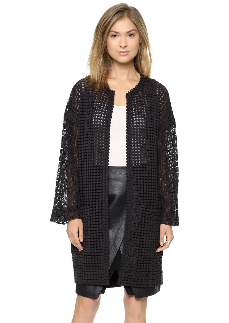 Catherine Malandrino Glenda Long Lace Coat