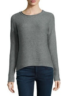 Catherine Malandrino Indigo Chunky Long-Sleeve Sweater, Heather Gray