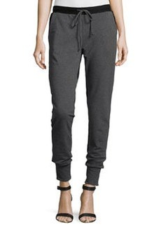 Catherine Malandrino Indigo Colorblock Jogger Pants, Gray/Black Combo