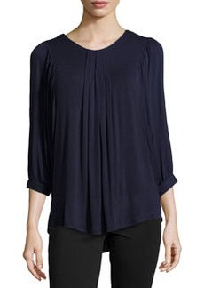 Catherine Malandrino Indigo Crochet Back Batwing Top, Dark Navy
