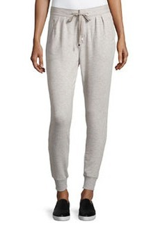 Catherine Malandrino Indigo Drawstring Tapered Jogger Pants, Heather Gray