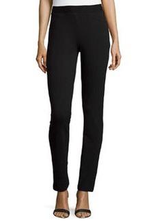 Catherine Malandrino Indigo Skinny Jersey Pants, Black