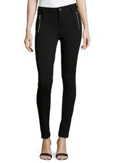 Catherine Malandrino Indigo Zippered Ponte Pants, Black
