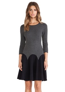 Catherine Malandrino Irianna Fit & Flare Dress in Charcoal