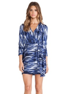Catherine Malandrino Isabella Wrap Dress in Navy